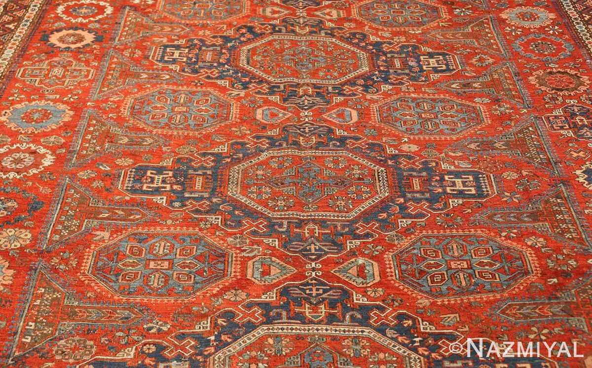 antique red soumak caucasian rug 49344 field Nazmiyal