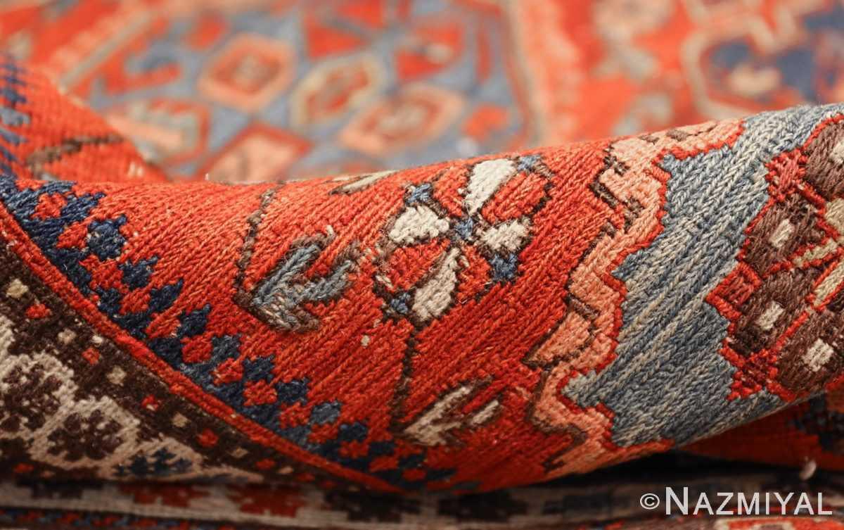 antique red soumak caucasian rug 49344 pile Nazmiyal