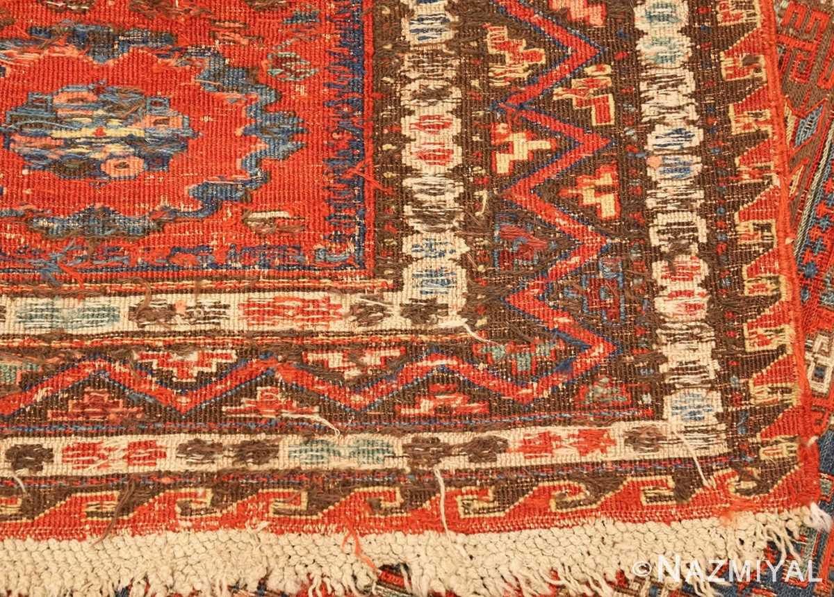 antique red soumak caucasian rug 49344 weave Nazmiyal