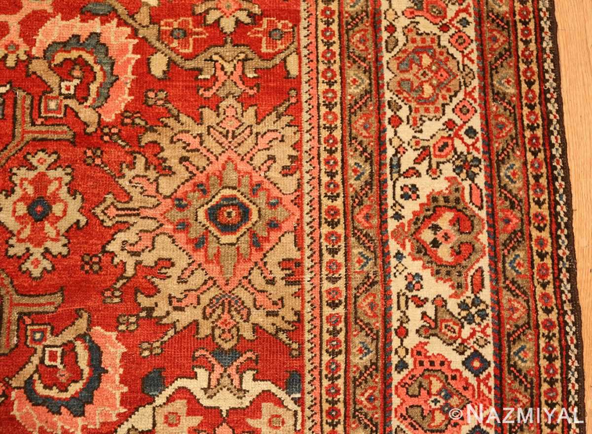 antique red sultanabad persian rug 49337 border Nazmiyal