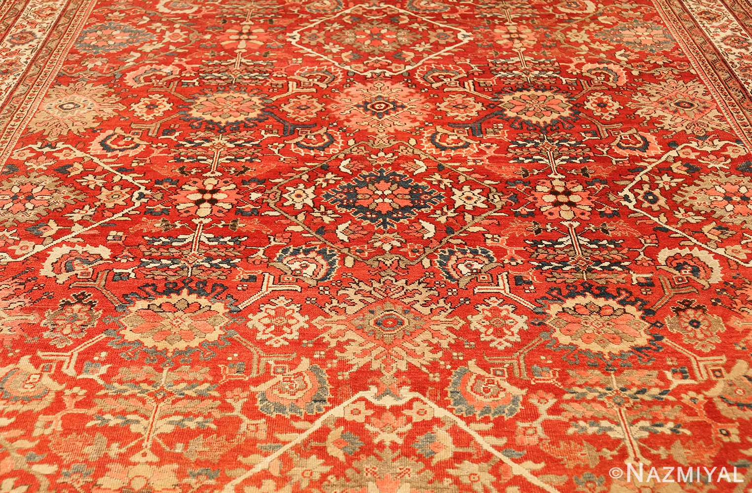 antique red sultanabad persian rug 49337 full Nazmiyal