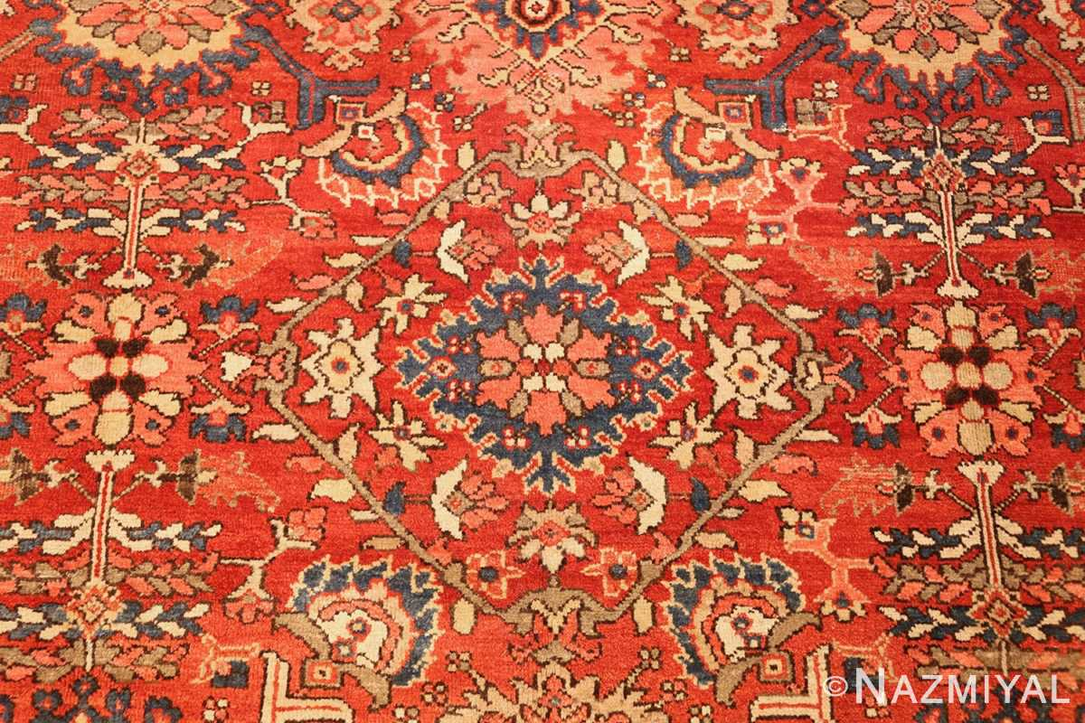 antique red sultanabad persian rug 49337 middle Nazmiyal
