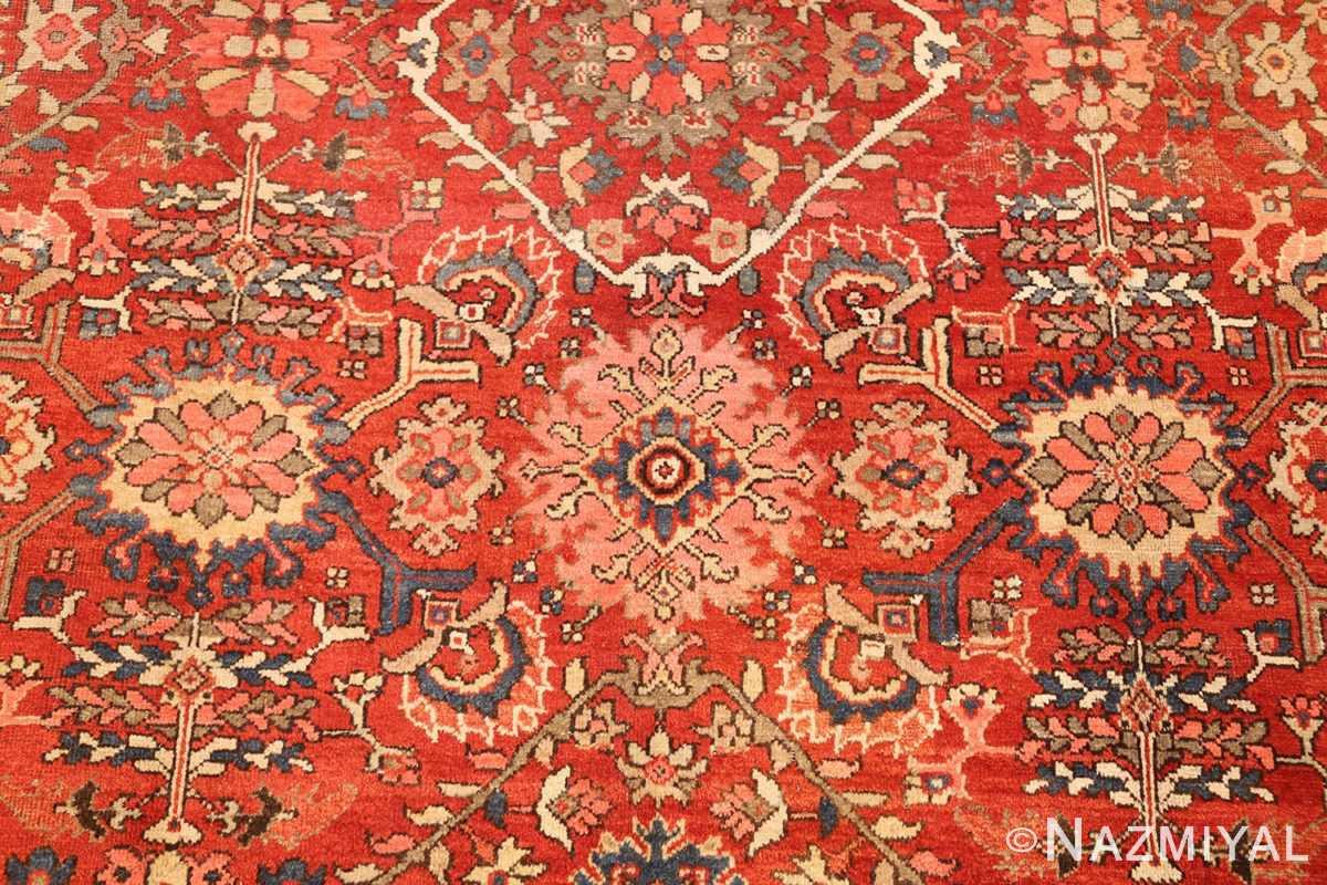 antique red sultanabad persian rug 49337 pink Nazmiyal