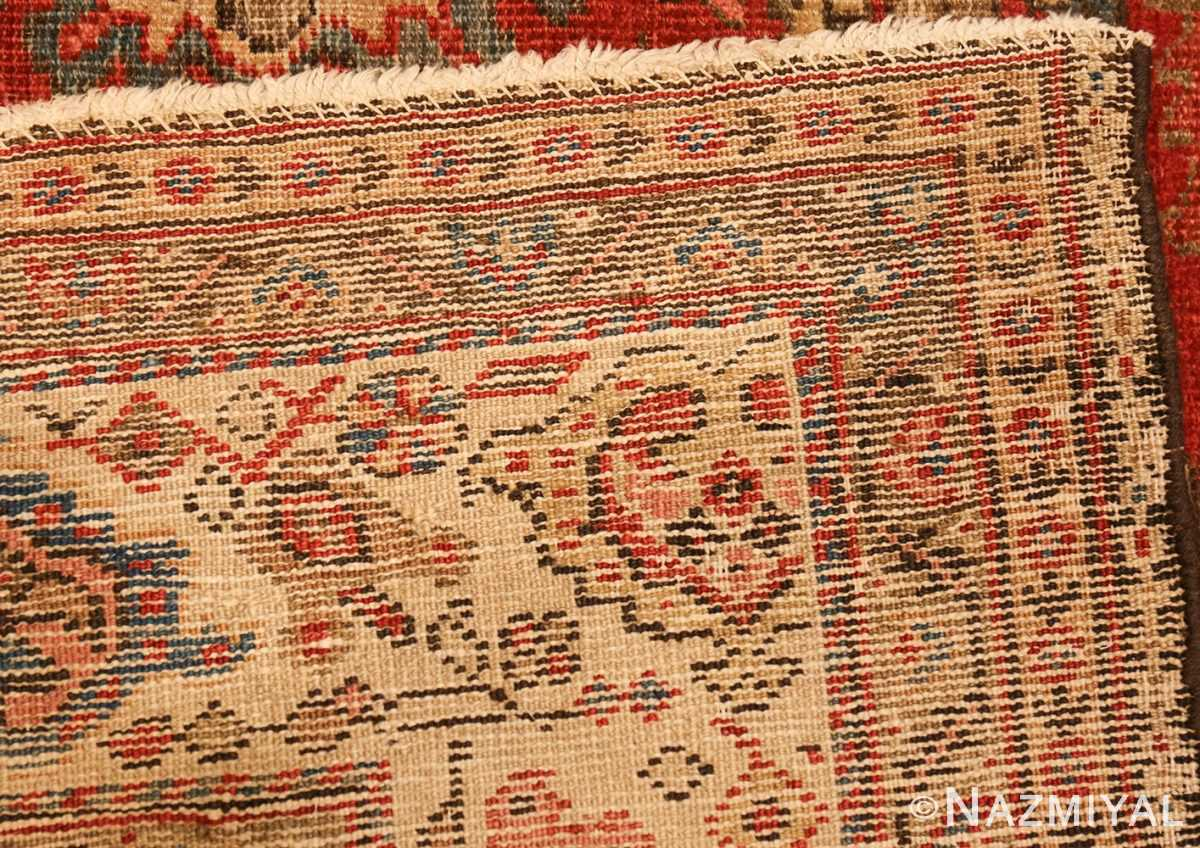 antique red sultanabad persian rug 49337 weave Nazmiyal