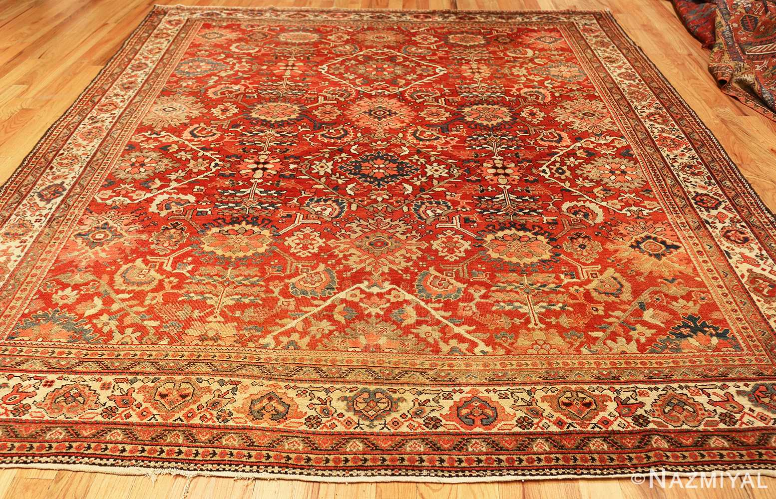 antique red sultanabad persian rug 49337 whole Nazmiyal