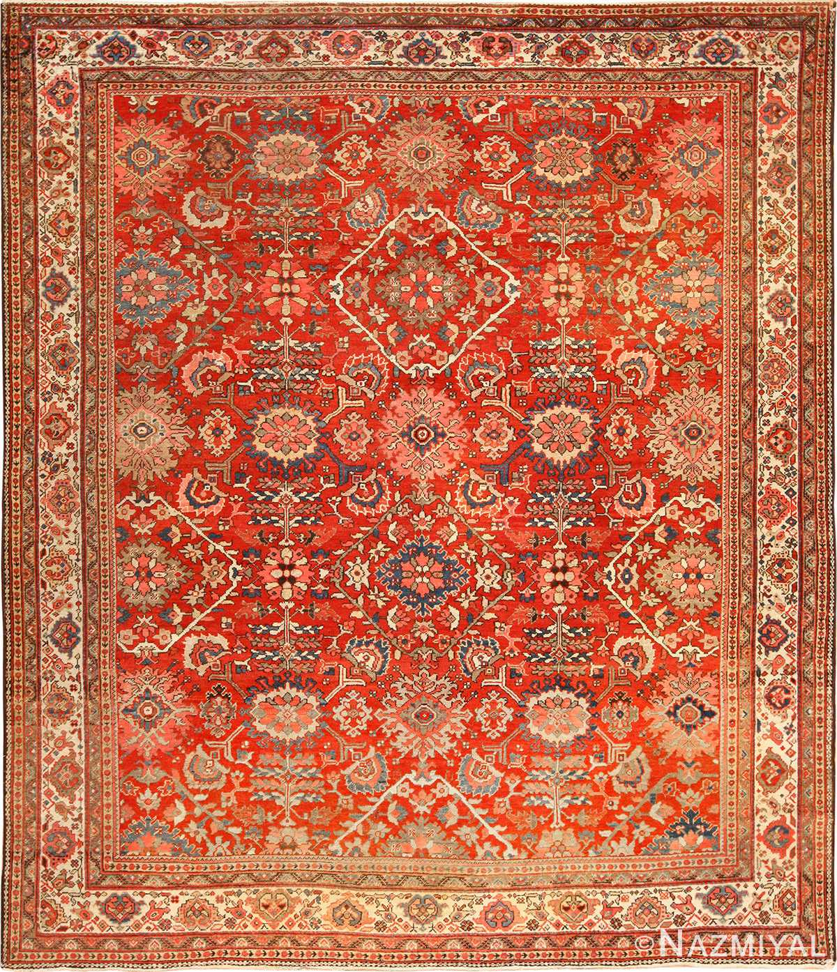 Beautiful Antique Sultanabad Persian Rug 49337 By Nazmiyal