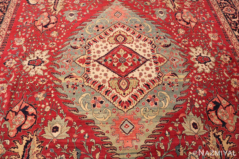 antique red tabriz persian rug 49348 design Nazmiyal