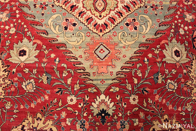antique red tabriz persian rug 49348 down Nazmiyal