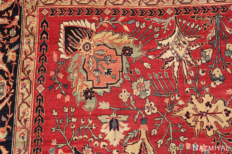 antique red tabriz persian rug 49348 part Nazmiyal