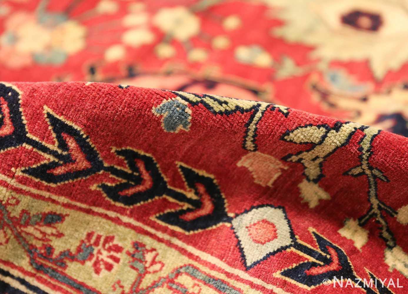 antique red tabriz persian rug 49348 pile Nazmiyal