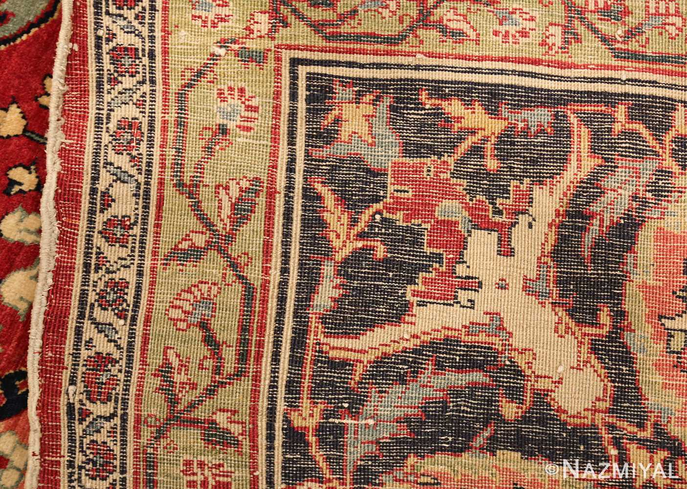 antique red tabriz persian rug 49348 weave Nazmiyal