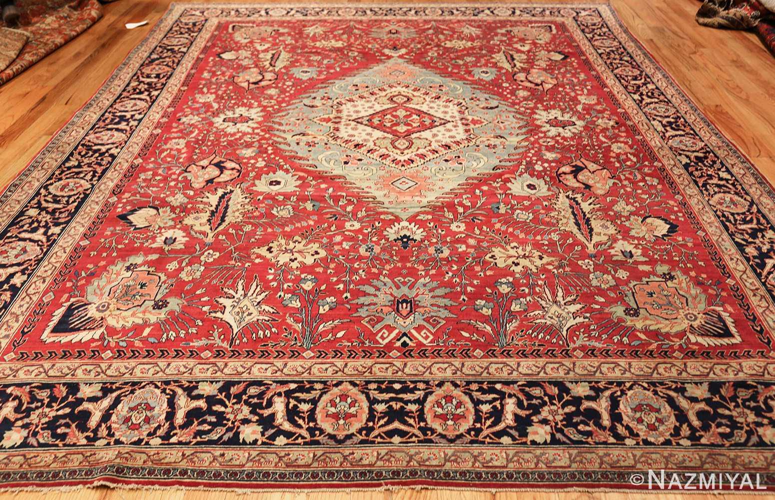 antique red tabriz persian rug 49348 whole Nazmiyal