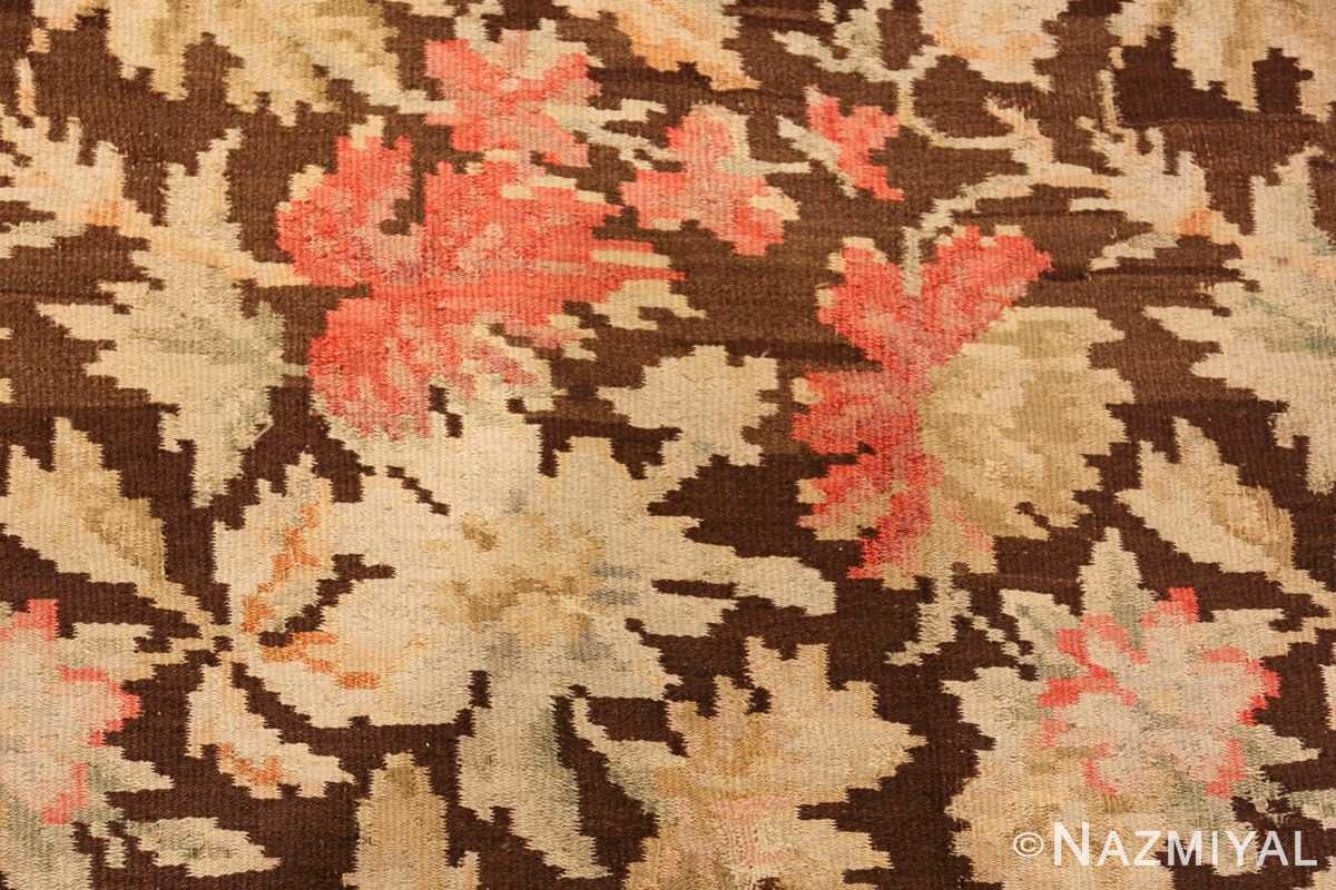 antique romanian bessarabian rug 49298 leaves Nazmiyal