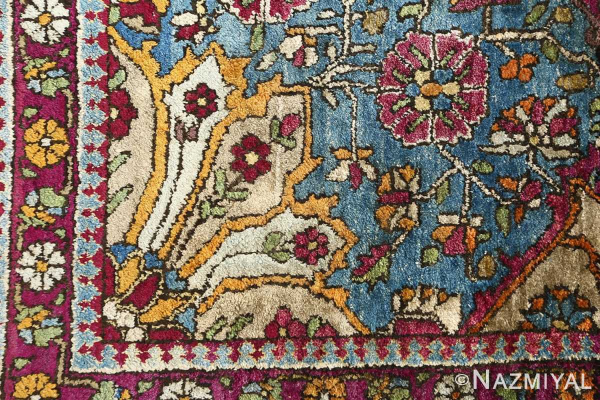 antique silk mohtasham kashan persian rug 51168 design Nazmiyal