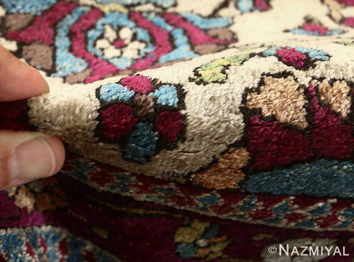 antique silk mohtasham kashan persian rug 51168 pile Nazmiyal