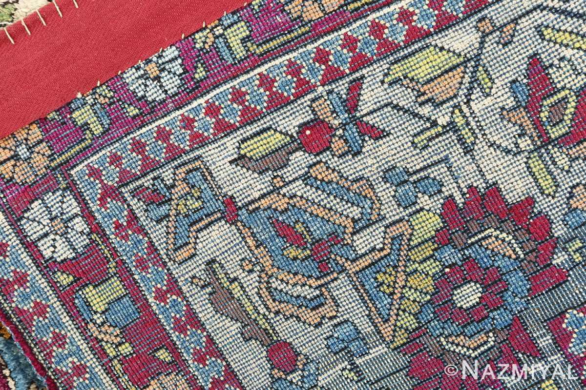 antique silk mohtasham kashan persian rug 51168 weave Nazmiyal