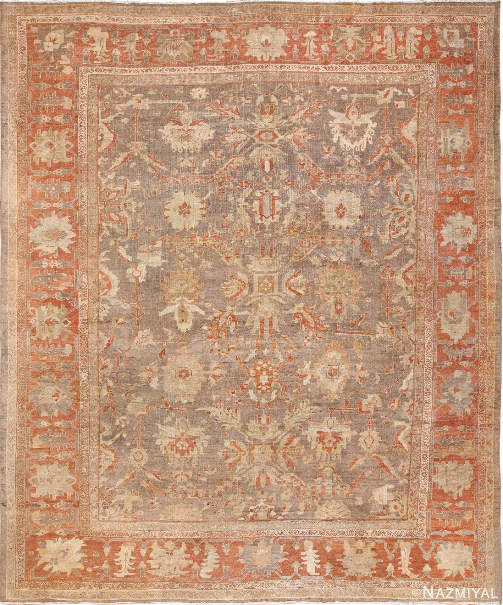 antique sultanabad persian rug 49334 Nazmiyal