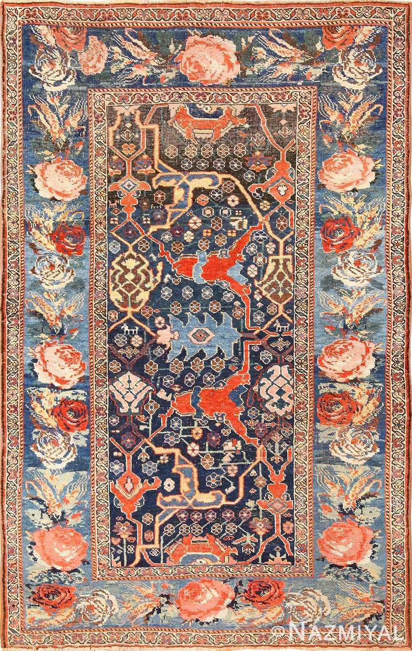 antique tribal bidjar persian rug 49280 Nazmiyal