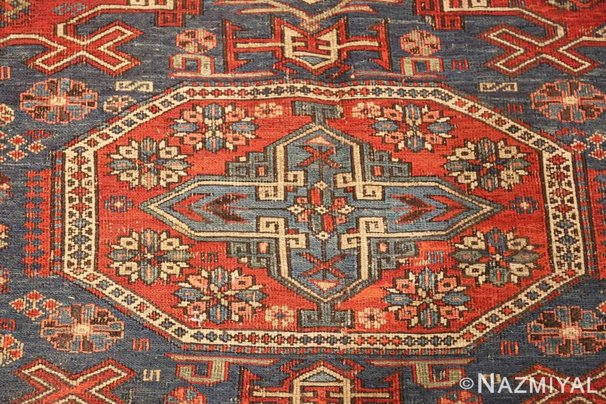 antique tribal soumak caucasian rug 49342 center Nazmiyal