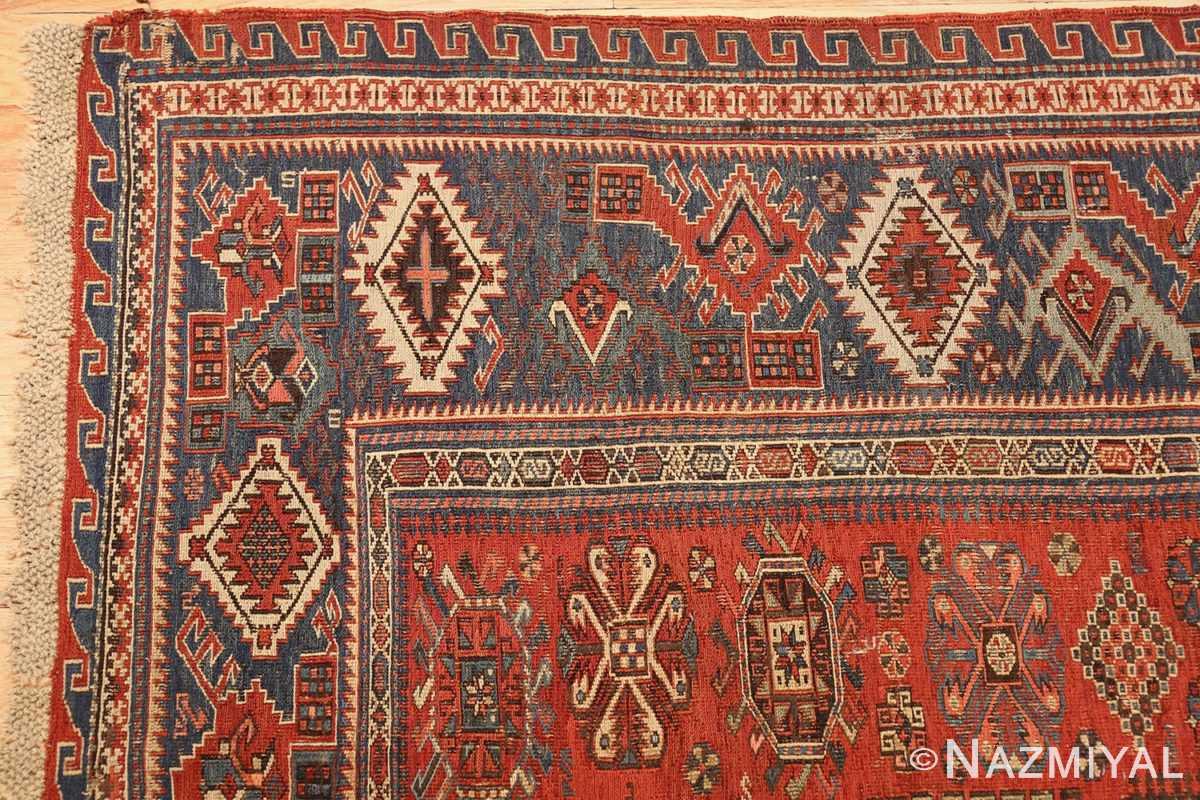 antique tribal soumak caucasian rug 49342 corner Nazmiyal