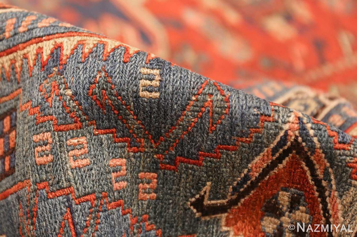 antique tribal soumak caucasian rug 49342 pile Nazmiyal
