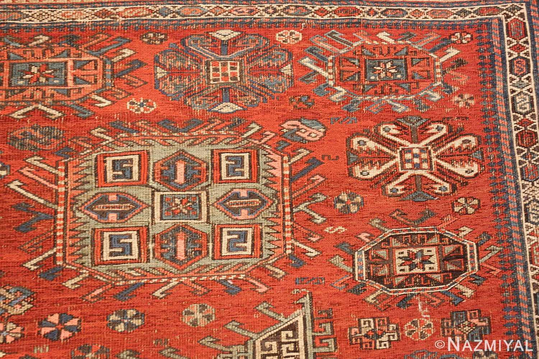 antique tribal soumak caucasian rug 49342 shapes Nazmiyal