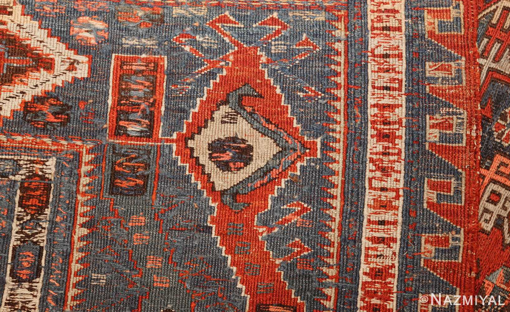 antique tribal soumak caucasian rug 49342 weave Nazmiyal