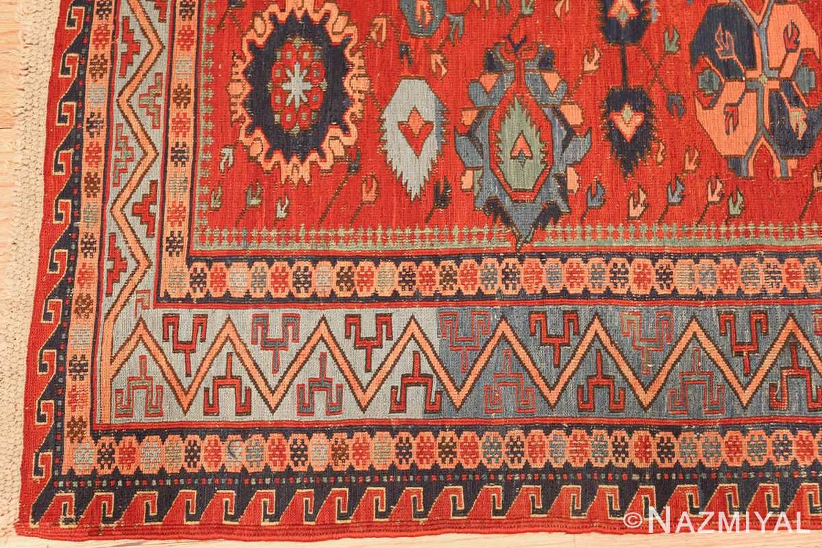 antique tribal soumak caucasian rug 49345 corner Nazmiyal