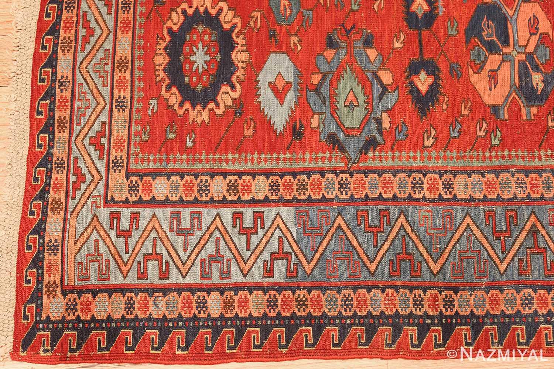 antique tribal soumak caucasian rug 49345 corner Nazmiyal