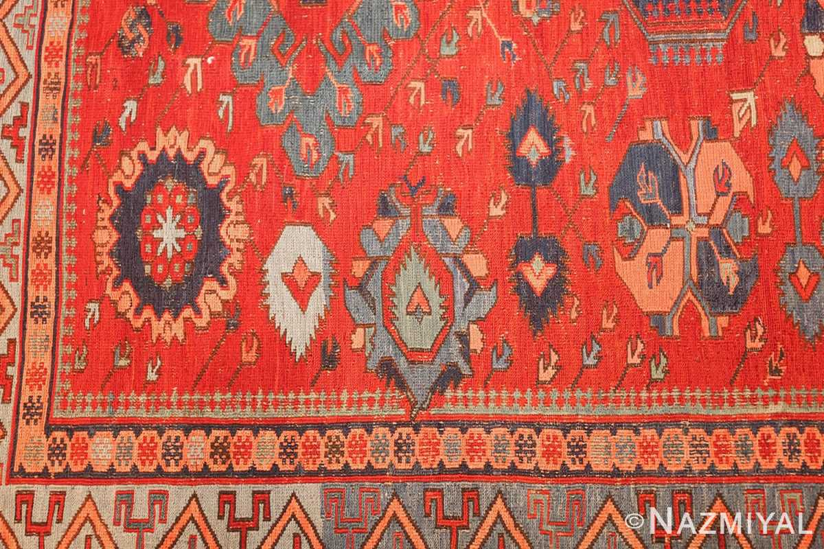 antique tribal soumak caucasian rug 49345 design Nazmiyal