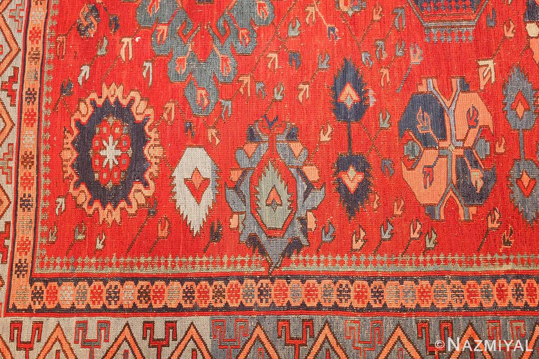 antique tribal soumak caucasian rug 49345 design Nazmiyal