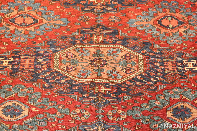 antique tribal soumak caucasian rug 49345 medallion Nazmiyal