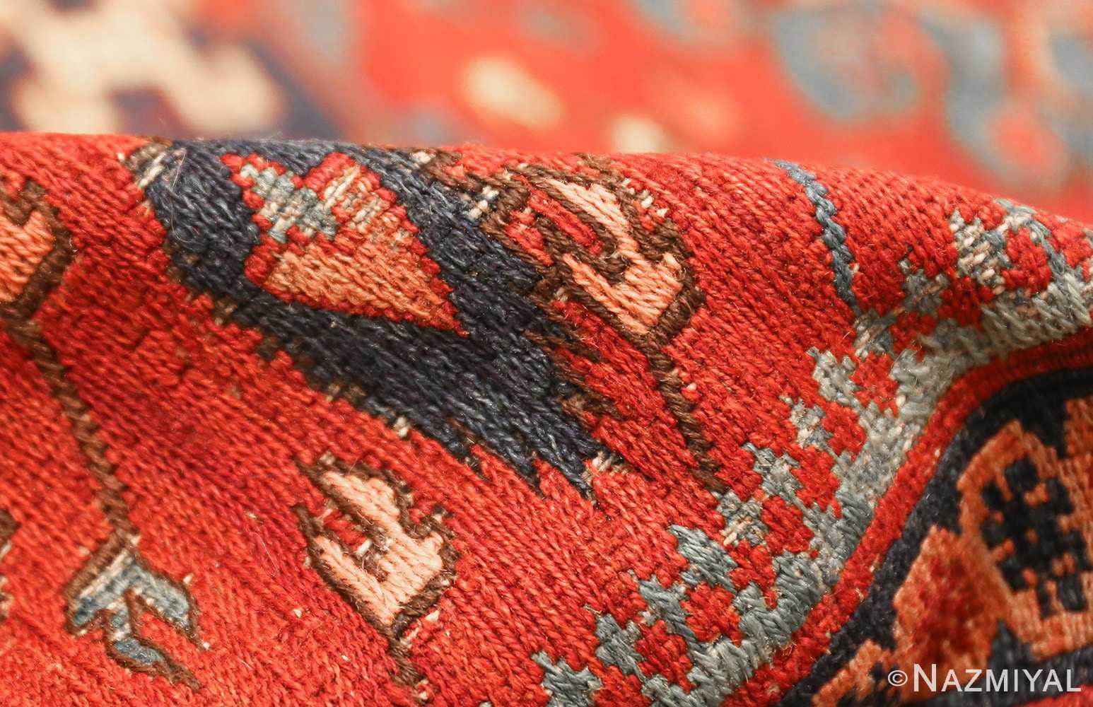 antique tribal soumak caucasian rug 49345 pile Nazmiyal