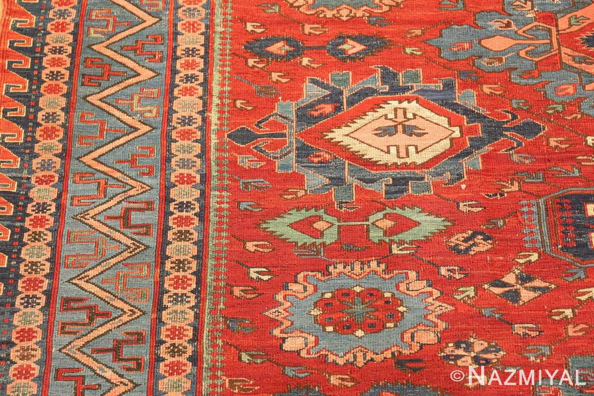 antique tribal soumak caucasian rug 49345 side Nazmiyal