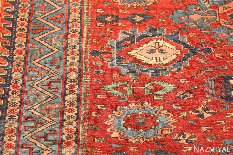 antique tribal soumak caucasian rug 49345 side Nazmiyal