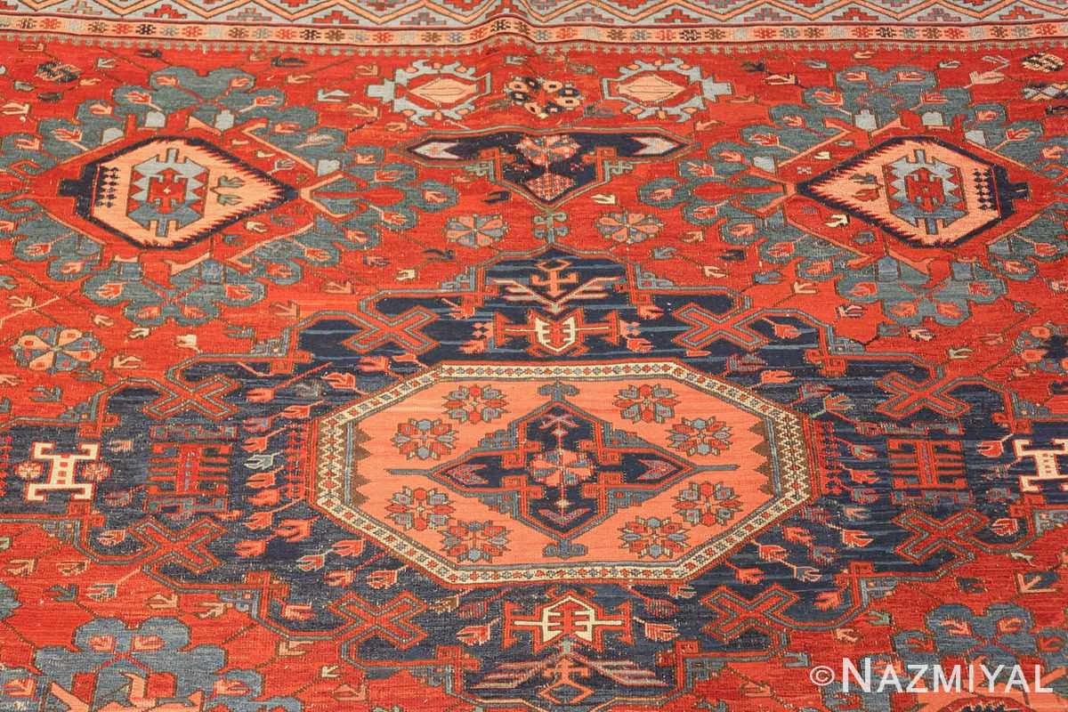 antique tribal soumak caucasian rug 49345 top Nazmiyal