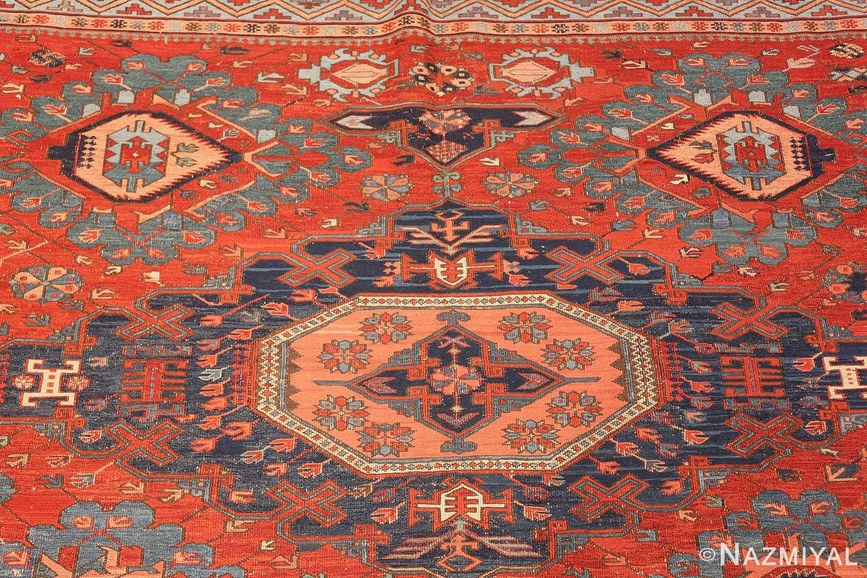 antique tribal soumak caucasian rug 49345 top Nazmiyal