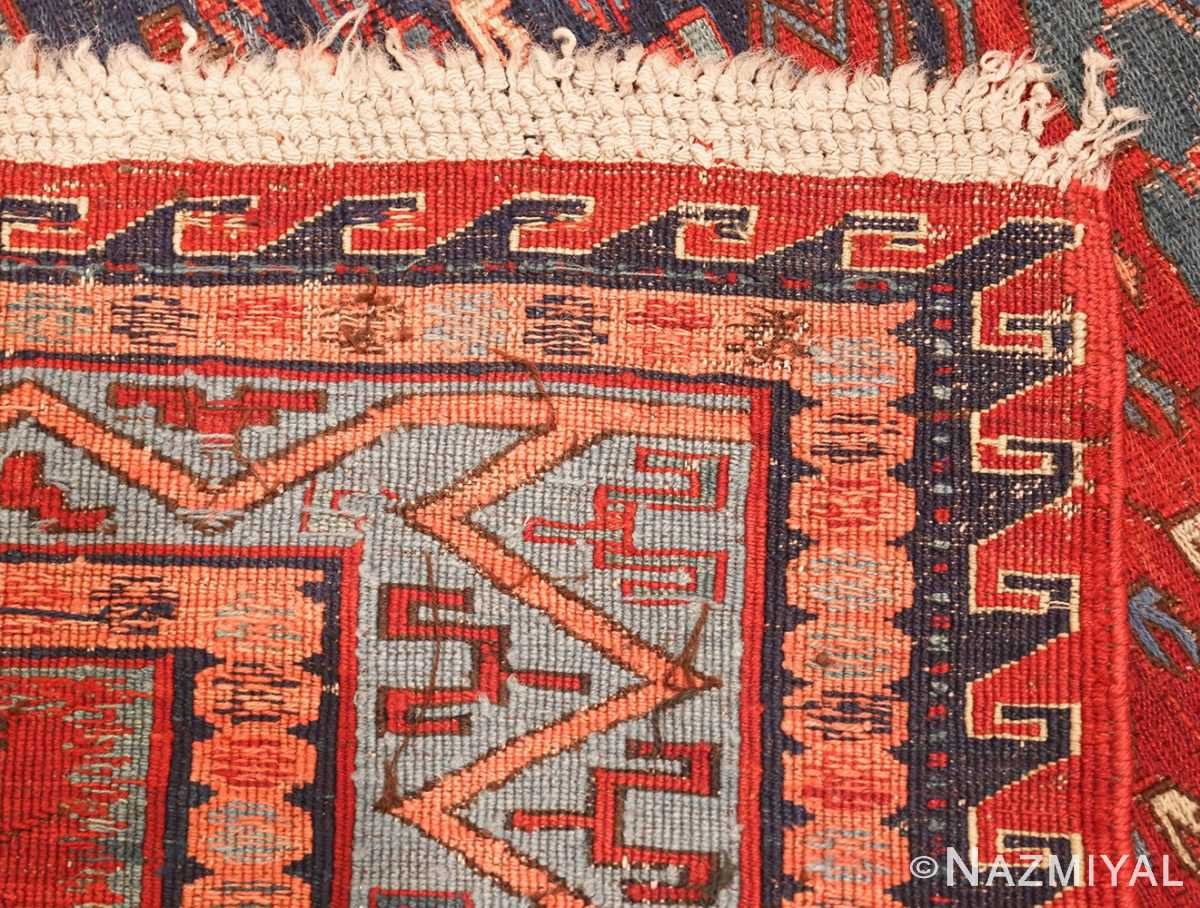 antique tribal soumak caucasian rug 49345 weave Nazmiyal