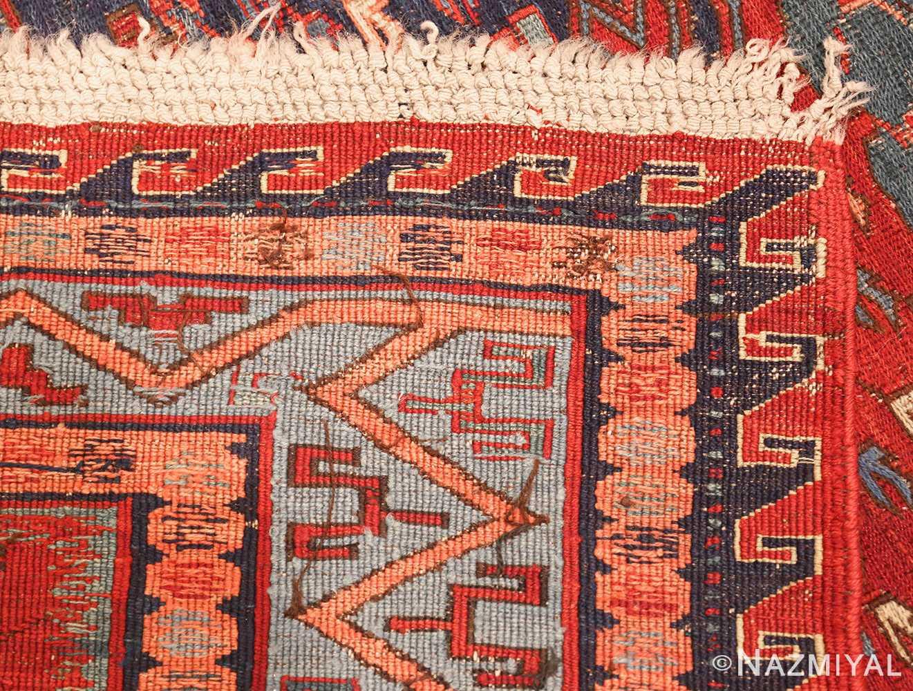 antique tribal soumak caucasian rug 49345 weave Nazmiyal