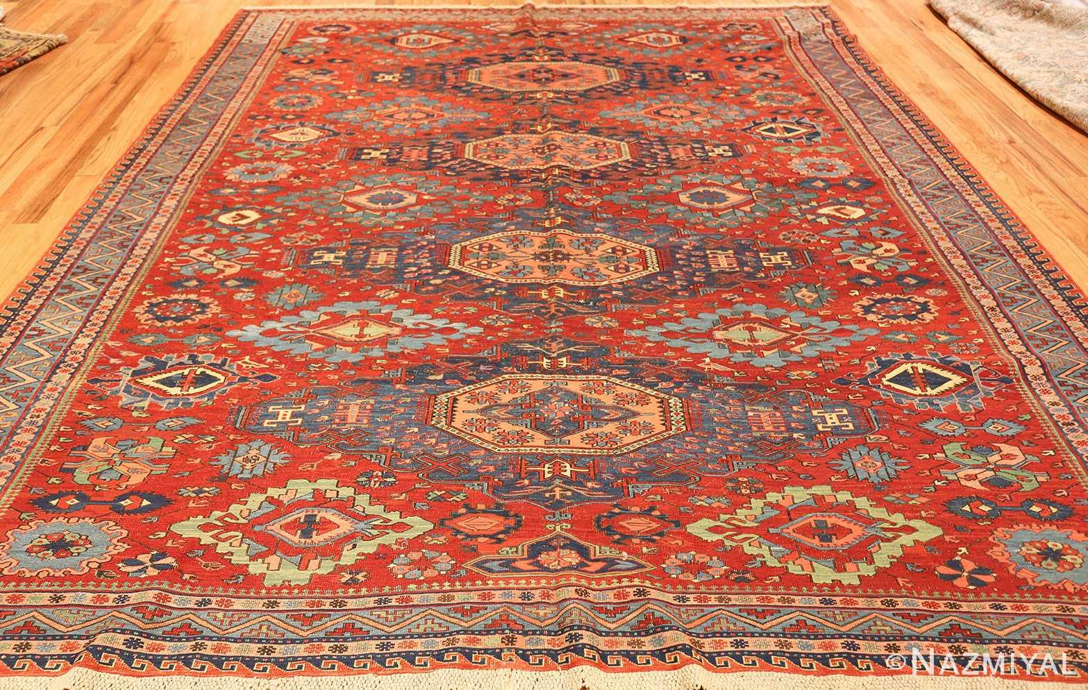antique tribal soumak caucasian rug 49345 whole Nazmiyal