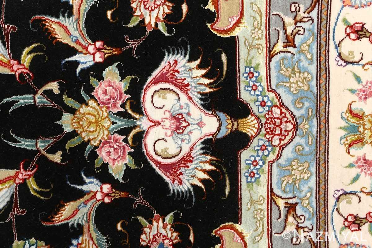 black background vintage tabriz persian rug 51127 bouquet Nazmiyal