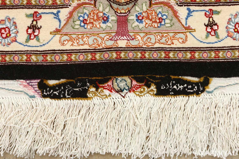 black background vintage tabriz persian rug 51127 signature Nazmiyal