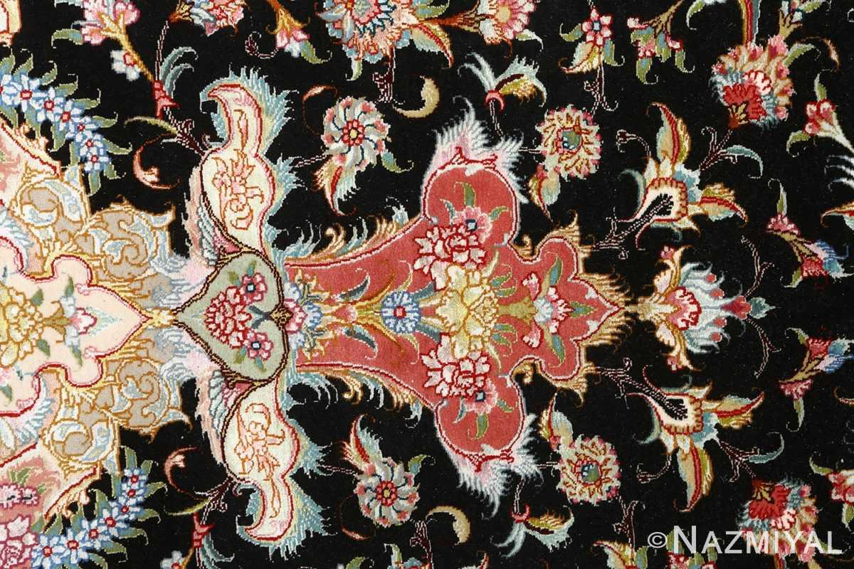 black background vintage tabriz persian rug 51127 tiara Nazmiyal