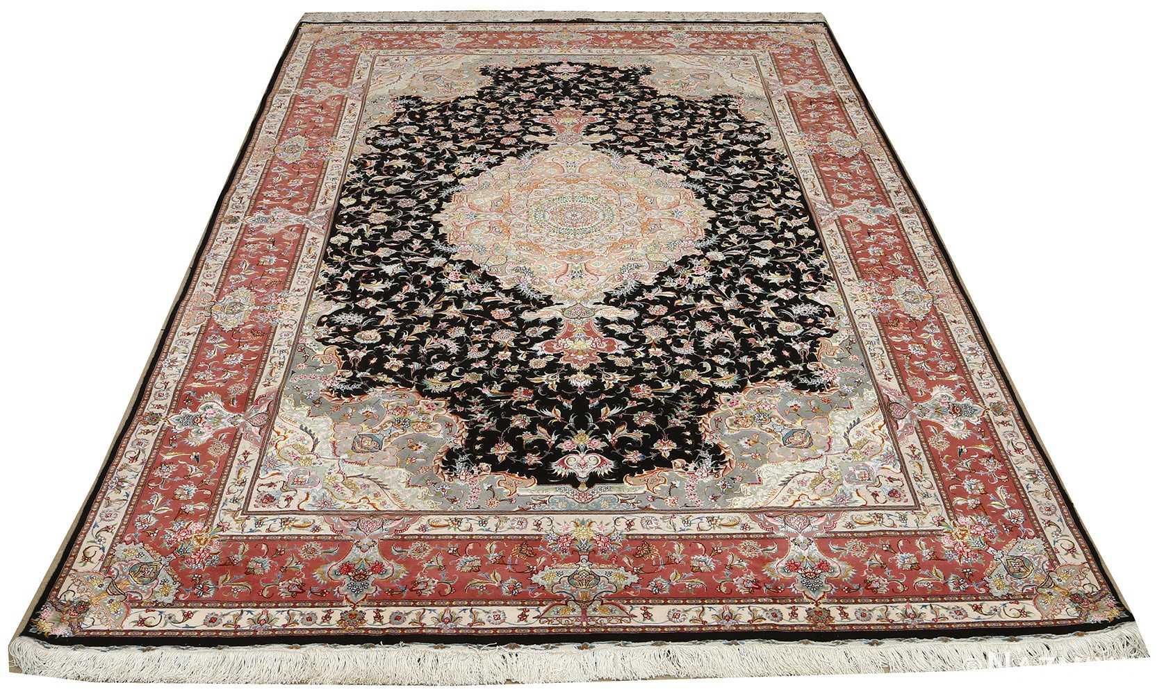 black background vintage tabriz persian rug 51127 whole Nazmiyal
