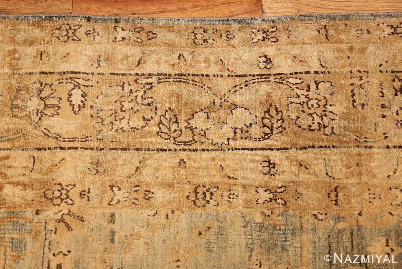 blue background antique kerman persian rug 49336 border Nazmiyal