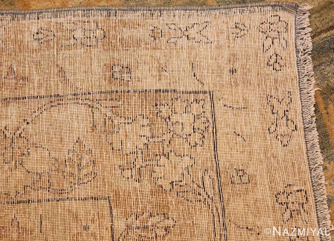 blue background antique kerman persian rug 49336 weave Nazmiyal