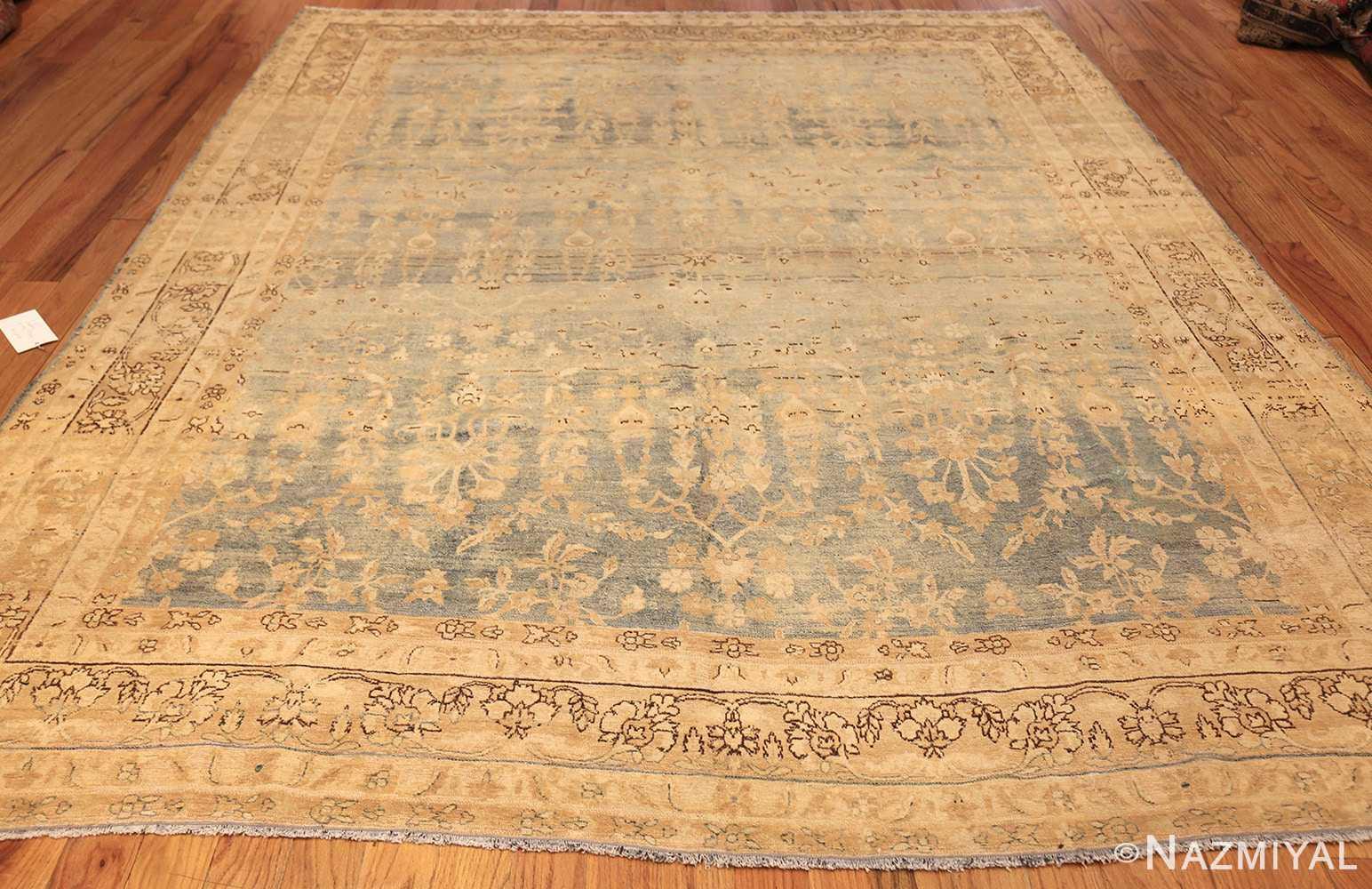 blue background antique kerman persian rug 49336 whole Nazmiyal