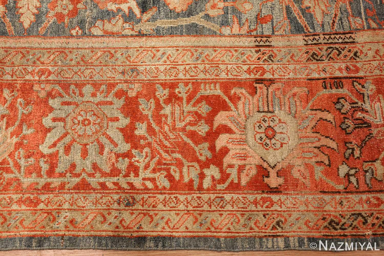 blue bakground antique sultanabad persian rug 49320 border Nazmiyal