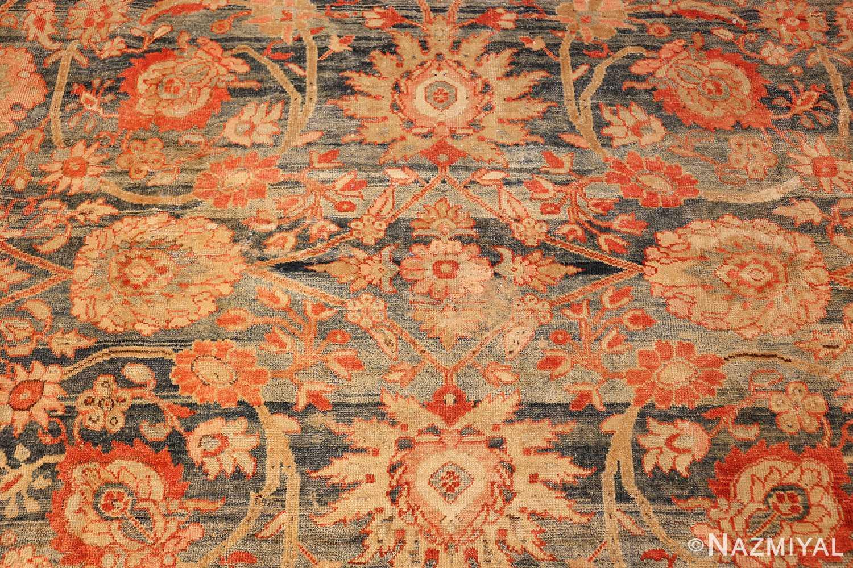 blue bakground antique sultanabad persian rug 49320 flowers Nazmiyal