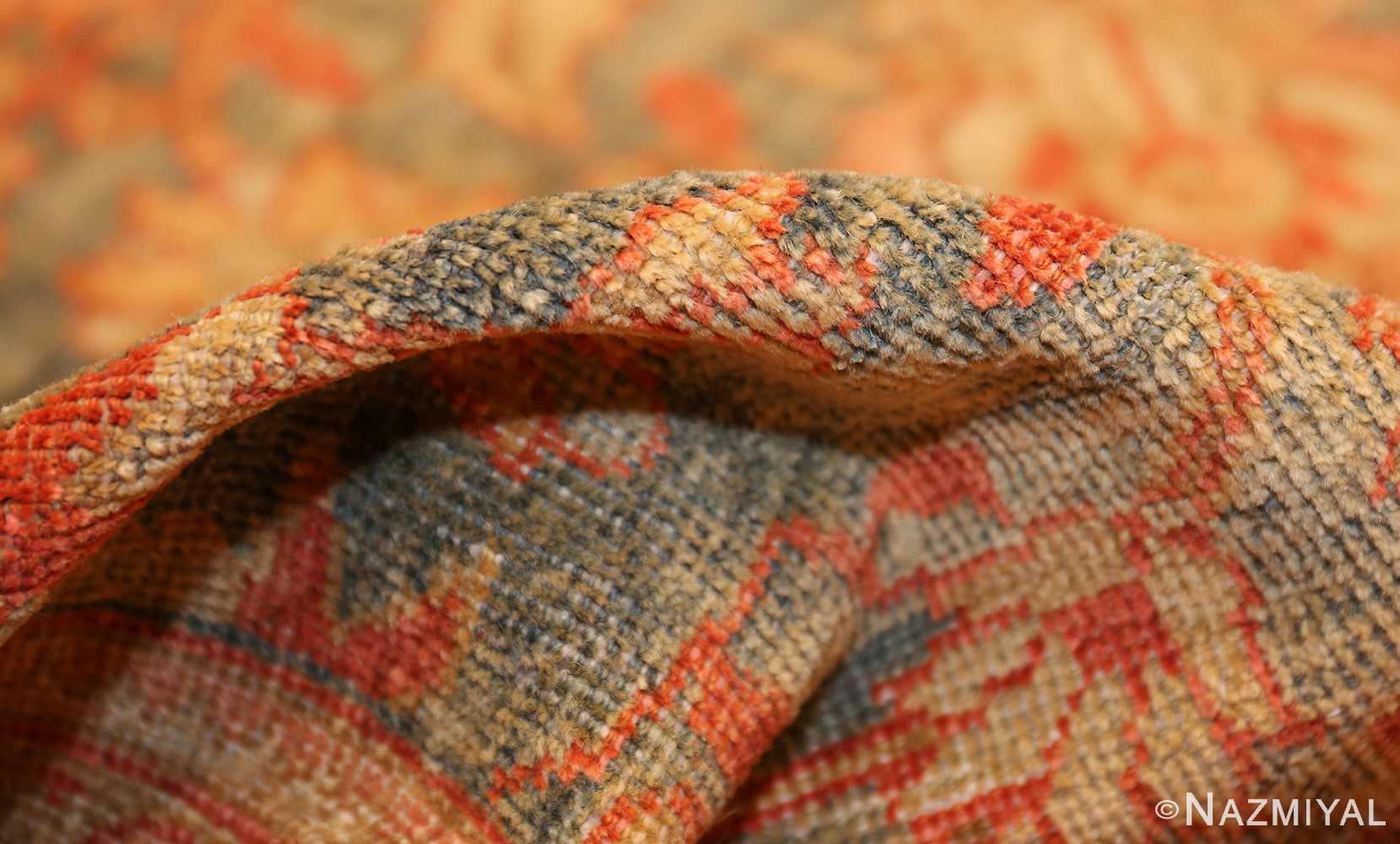 blue background antique sultanabad persian rug 49320 pile Nazmiyal